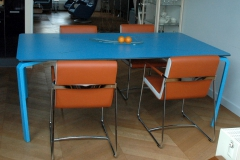 tafel trespa blauw