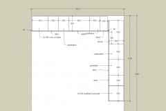 Huisman keuken plattegrond na inmeten