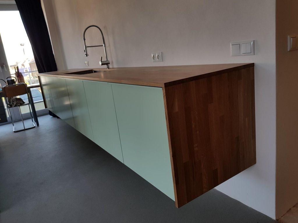 4 meter vrij hangend keukenblok