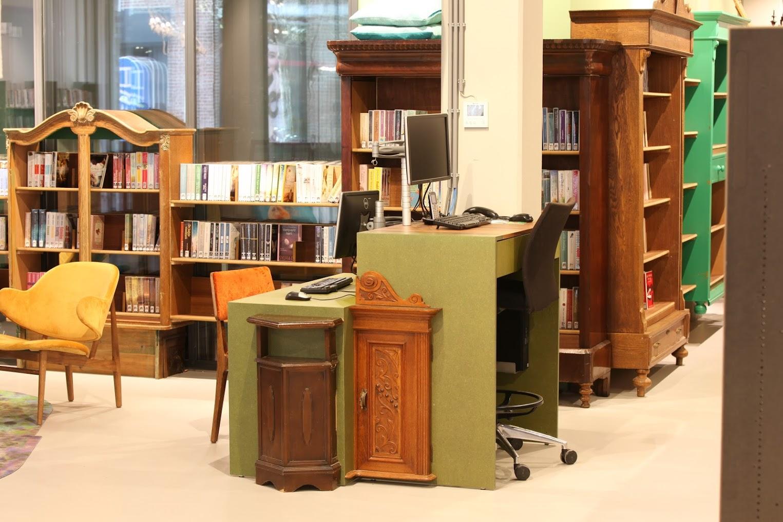 Ergonomie en de prijs maakten het dat de vintage elementen bij functionele meubels alleen decoratief worden ingezet.