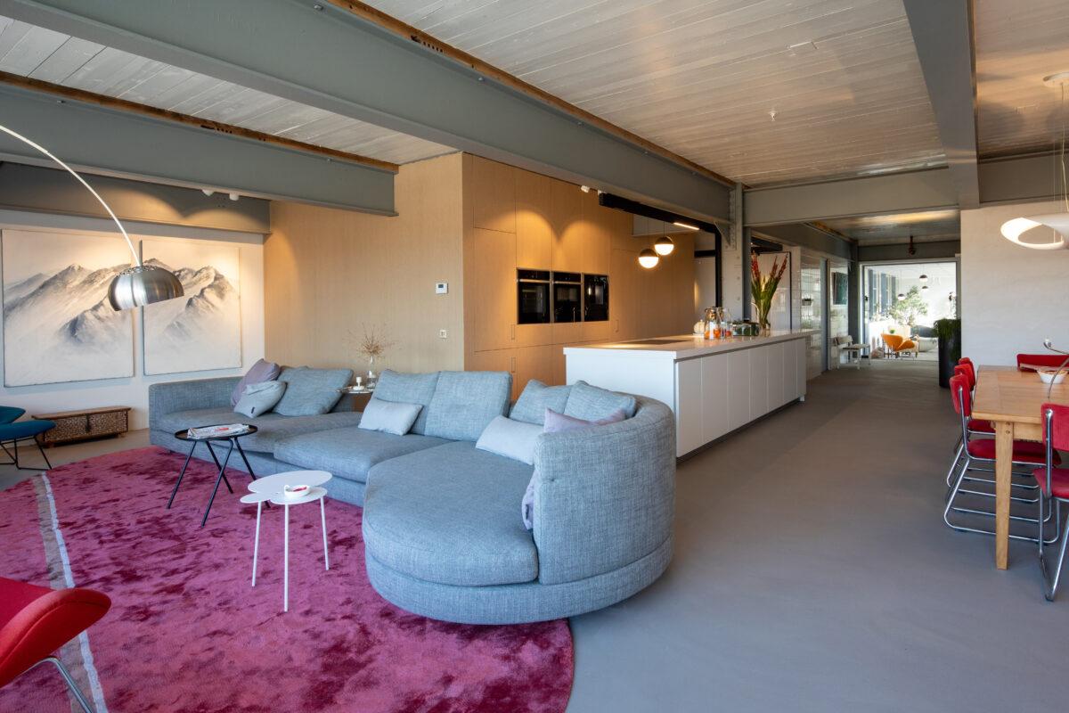 Interieurinspiratie, woonkamer, woonkeuken, loft, Meelfabriek, Delft, Maatwerkmeubels