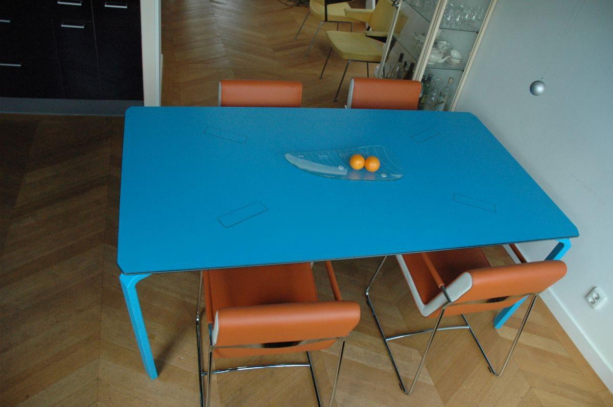 De blauwe tafel